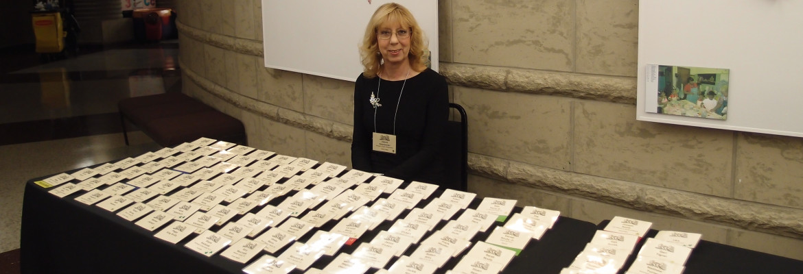 Valerie With Name Badges